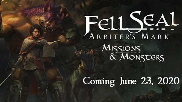 "Fell Seal: Arbiter's Mark ""Missions and Monsters"" expansion hits Xbox One, PS4, Switch and PC on June 23"
